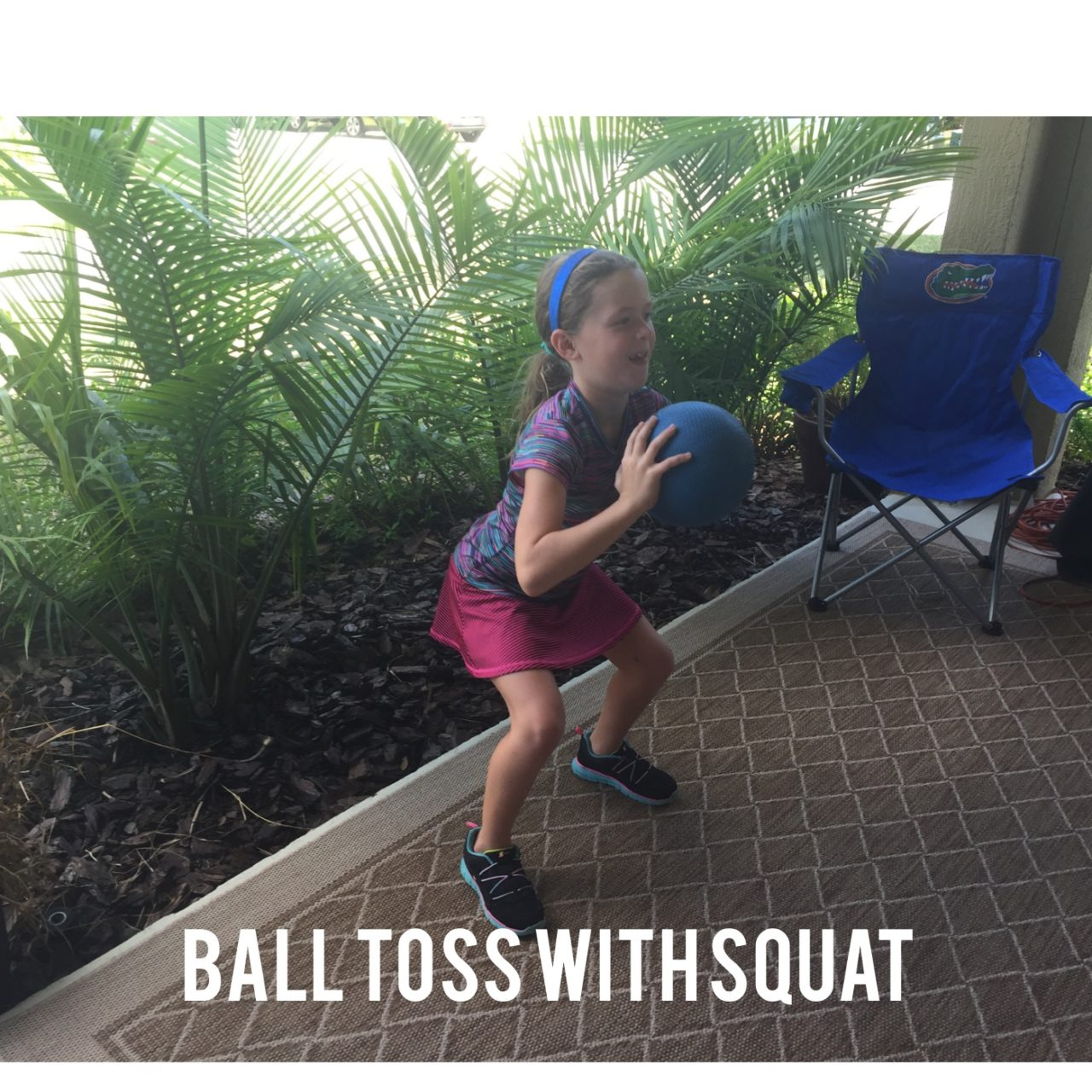 Medicine Ball Toss with Squat