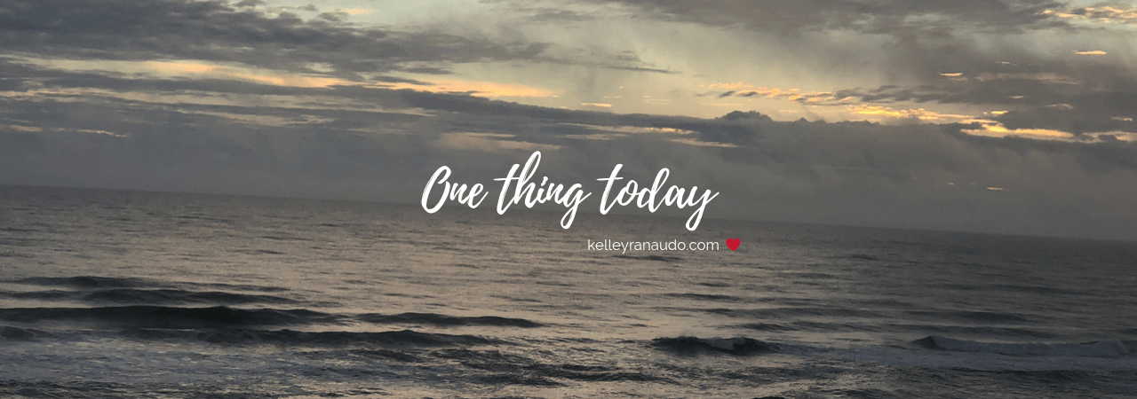 One thing today