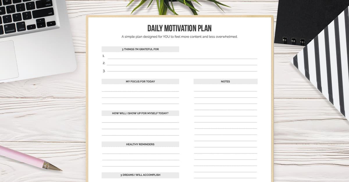 Daily Motivation Plan