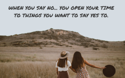 #33: Saying no is a big part of self-care
